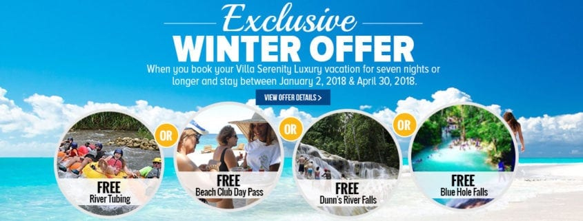 Winter in Ocho Rios vacation deals and special