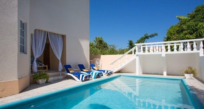 Private swimming pool at Jamaica villa