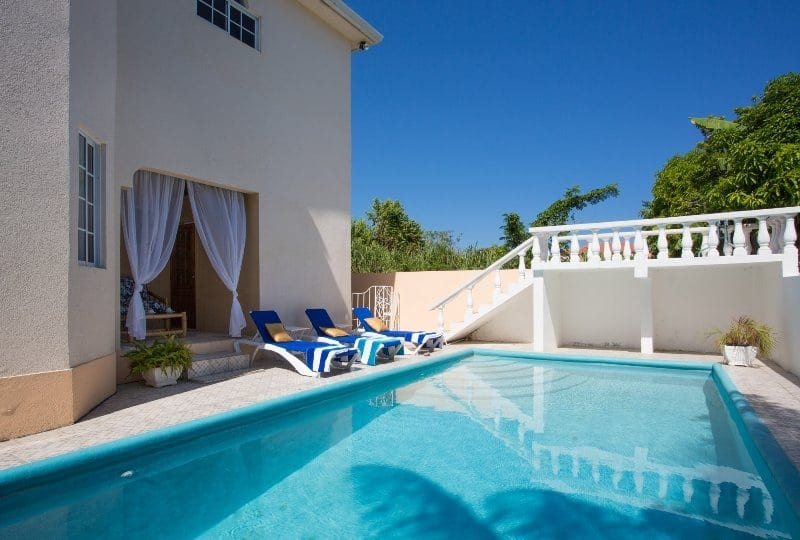 Private swimming pool at Jamaica villa