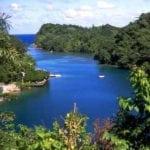 Blue lagoon in Jamaica