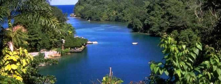 Blue lagoon in Jamaica