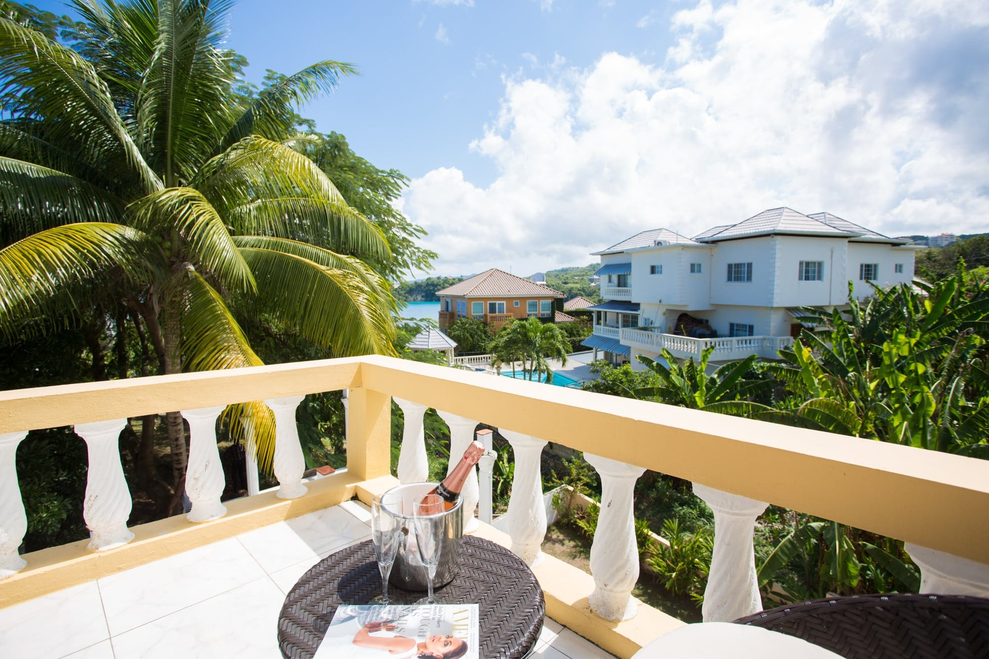 Jamaica vacation home with ocean view patios