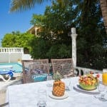 Dine al fresco by your private pool