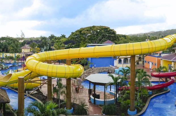 Water park family vacation
