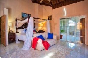 Luxury villa retreat master suite