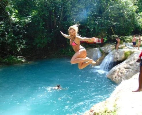 Jamaica blue hole jump
