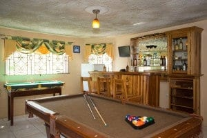 Private bar and recreation room