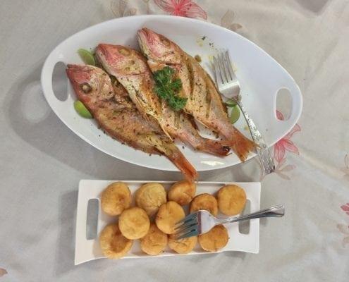 Fried Fish and Jonny Cake_ Breakfast tie