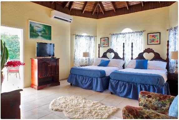 Jamaica villa vacation rentals for Bedroom designs in jamaica