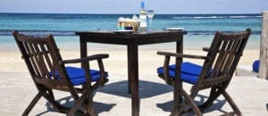 Bamboo blu beach side dining