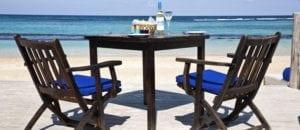 Bamboo blu beach side dining