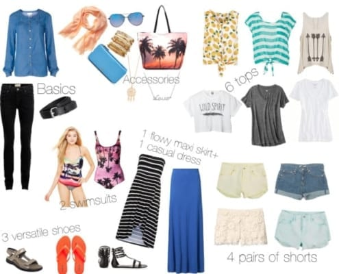 Jamaica vacation packing list