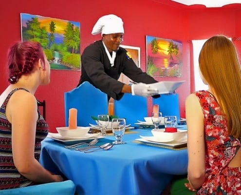 Jamaica villas with private chef preparing gourmet meals