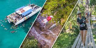 Catamaran Cruise and zipping Ocho Rios