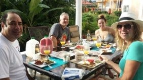 Dining experience at Villa Serenity by the sea in Ocho Rios Jamaica