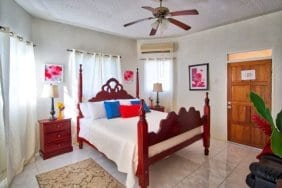 King size bedroom at villas in Ocho Rios Jamaica