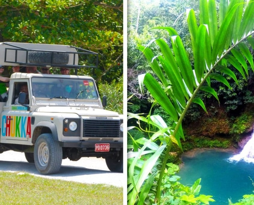 Safari and blue hole adventure in Ocho Rios Jamaica