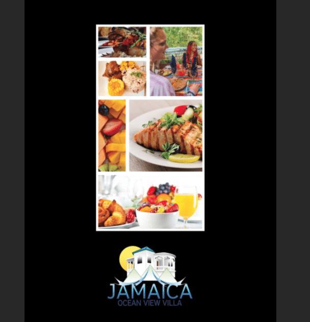 Jamaica Villa Serenity's Menu