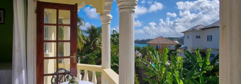 Jamaica villas Private-Balcony-with-sea-view-Villa-Serentiy